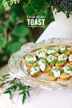 This fava bean toast is the perfect springtime appetizer!