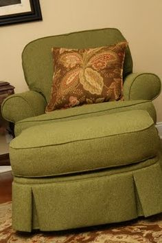 Gramma Colby had a horrid chair and couch set of scratchy fabric in this color.