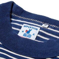 Arpenteur Malo Stripe Sweater (Navy & Ecru)
