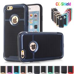 Case for Apple iPhone 7 i Phone7 PC+TPU solid color ultra-thin luxury mobile phone bag back cover shell for Apple iPhone7 case