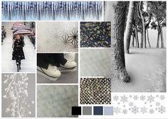 Board d'ambiance Défilé de mode pour le thème Winter.
