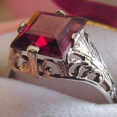 Victorian Garnet For Garnet Inspired Woman's Outfit.