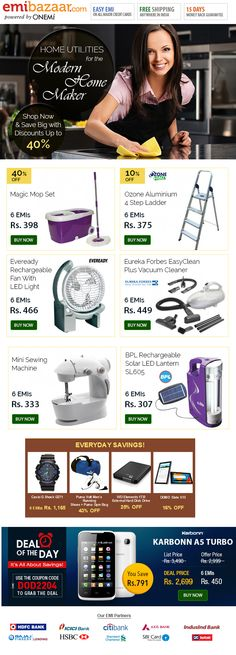 Smart Home Utilities at EMI Prices That Will Make You Smile! Emibazaar.com