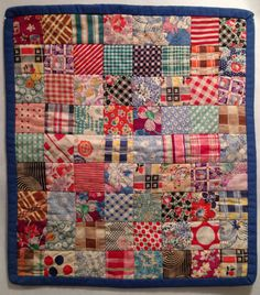Vintage Quilts | First doll quilt, circa 1992 12.5″ x 14″
