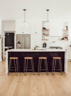 Best Seat In The Kitchen: New Structube Stools Eclectic Kitchen, Scandinavian Kitchen, Home Decor Kitchen, Kitchen Living, Kitchen Interior, New Kitchen, Home Kitchens, Kitchen And Bath Design, Modern Kitchen Design