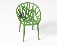 2008 - Shapes from the world of vegetation serve as inspiration for Ronan & Erwan Bouroullec's Vegetal chair for Vitra, as they did for Algues.Vegetal is manufactured using a highly energy-efficient process, and is made from 100% recyclable polyamide.