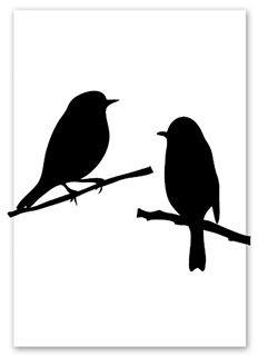 It's your birthday - Jots Black And White Drawing, Black N White Images, Black And White Portraits, Vogel Silhouette, Silhouette Art, Little Black Bird, Bird Template, Tribal Animals, Animal Stencil