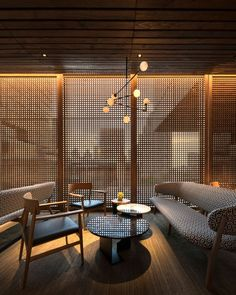 Morimoto Restaurant Interior Design by mpdStudio - restaurant & bar - Travel & Restaurants Restaurant Interior Design, Modern Interior Design, Interior Architecture, Restaurant Interiors, Japanese Modern Interior, Japanese Restaurant Interior, Cafe Interiors, Interior Concept, Studio Interior
