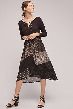 a134842b4efff Belle Noir Patchwork Dress Patchwork Dress, Cold Weather Outfits, Swing  Dress, Knit Dress