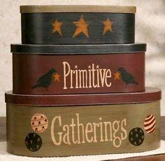 """Primitive Gatherings"" Nesting Boxes"