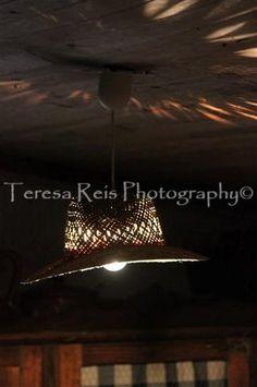 Candeeiro feito com chapéu de palha (foto 2)