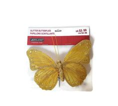 Yellow and Gold Butterfly - Arrangement Embellishment