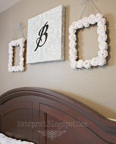 homemade wall decor- maybe something like this for above my bed? my walls are so drab!