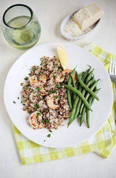 Try this recipe for quinoa shrimp scampi for a devine summertime dinner.