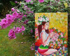 Amylee's painting #art #tableau #peinture #flowers #fleurs www.amylee-paris.com