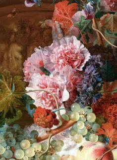 Jan van Huysum, detail from Fruit and Flowers, 1722