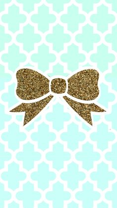 Tiffany blue + gold glitter bow tech wallpaper #FREE