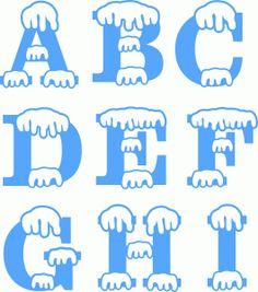 Silhouette Design Store - View Design snow monogram a-i Alphabet Letter Templates, Printable Banner Letters, Letter Stencils, Alphabet Letters, Christmas Vinyl, Christmas Clipart, Silhouette Cameo Christmas, Kirigami, Winter Clipart