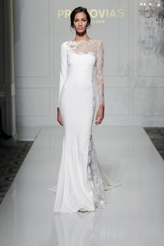 Stunning Long Sleeve Wedding Dress Veda from Pronovias