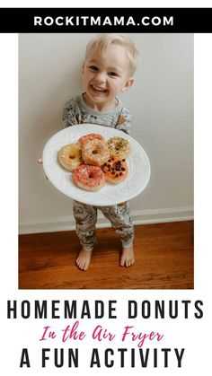 Homemade Air Fryer Donuts: A Fun and Delicious Activity - Rock It Mama Meals Kids Love, Easy Family Meals, Cooking With Kids, Family Recipes, Kids Cooking Activities, Preschool Activities, Cooking In The Classroom, Homemade Donuts, Healthy Snacks For Kids