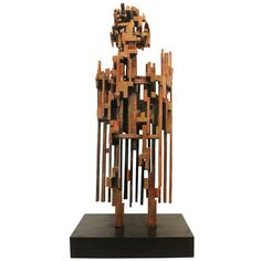Large Scale Mid - Century Modernist Cubist Figurative Sculpture   From a unique collection of antique and modern sculptures at http://www.1stdibs.com/furniture/more-furniture-collectibles/sculptures/