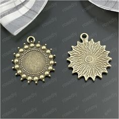 10pcs 12mm Pendant Cabochon Base Antique Bronze Sun Necklace Charms Blank Tray Bezel Fit 12mm Glass Cabochon Cameo DIY Findings-in Jewelry Findings & Components from Jewelry & Accessories on Aliexpress.com   Alibaba Group