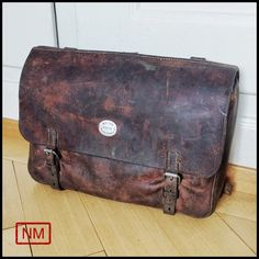 Vintage Swiss Army Leather Backpack Leather by NaturaMachinata