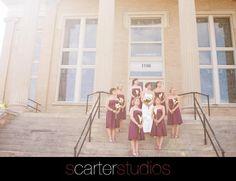 loved these purple bridesmaid dresses