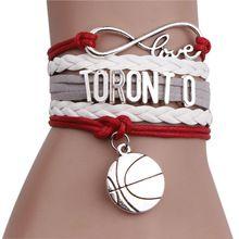 Infinity Love Basketball Team Bracelet Customized Wristband Friendship Bracelets For Women 2016 Fashion Vintage Jewelry(China (Mainland))