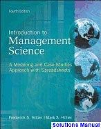 30 best solutions manual download images on pinterest introduction to management science a modeling and case studies approach with spreadsheets 4th edition hillier solutions fandeluxe Choice Image