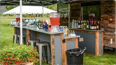 Outdoor bar set up for backyard parties