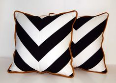 Chevron Throw Pillows from this Etsy shop: http://www.etsy.com/shop/ccduexvie