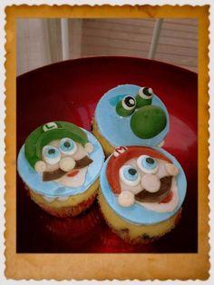 www.dulce-desserts.com #supermario #nintento #cupcakes