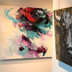 Regram from the @westendgallery. Be sure to stop by and see my latest work.   #regram #goseemywork #newwork #edmonton #alberta #albertaart #artwork #workingartist #blu #blusmith #blusmithart #artgallery