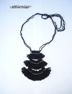 #ibeemedesign #handmade #woolnecklaces Crochet Necklace, Necklaces, Wool, Handmade, Jewelry, Crochet Collar, Jewellery Making, Chain, Jewelery