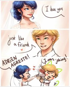 Adrienette's Wedding, Miraculous: Tales Of Ladybug And Cat Noir Ladybug E Catnoir, Comics Ladybug, Ladybug Und Cat Noir, Adrien X Marinette, Adrian And Marinette, Lady Bug, Anime Miraculous Ladybug, Adrien Agreste, Kids Shows