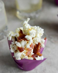 Smoky Bacon Popcorn with Burnt Sugar and Sea Salt | howsweeteats.com
