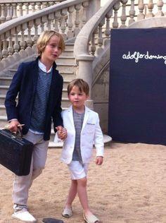 Eduard y Alex de Sugar Kids para pasarela Adolfo Dominguez