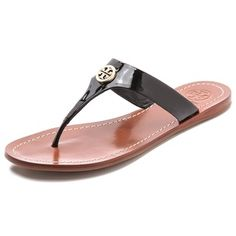 5d993d87cf1e32 Tory Burch Black Cameron Thong Sandals - Sale