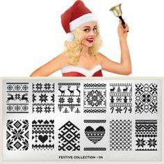 I want this so bad! I love sweater print nails!!!  MoYou nail plate