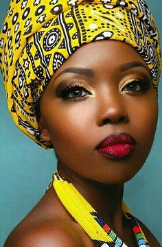 Wrapped in yellow #headwraps #headscarf