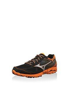 Mizuno Zapatillas deportivas Wave Kazan 2 (Negro / Plateado / Naranja)