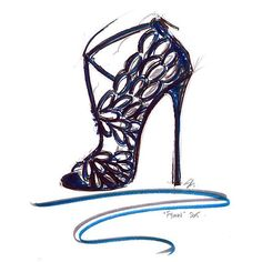 Our Creative Director @SandraChoiOfficial sketched FYONN the ultimate fantasy sandal from the #PF15 collection by jimmychoo