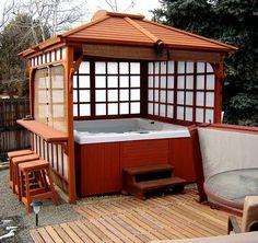 hot tub pergola idea (guess who's getting a hot tub, yay!)