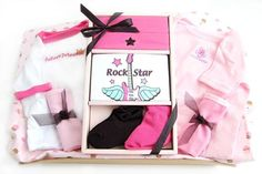 Rock Star Baby Girl Basket