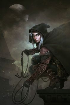 Can't work out if this thief is good or evil.  But I would like her in my party!