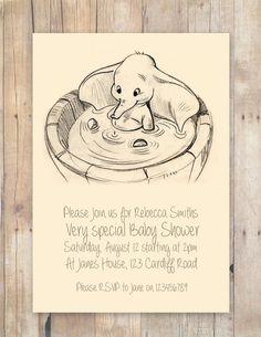 Disney Baby Shower Invitations Fresh Disney Dumbo Baby Shower Invitation by Flurgdesigns On Etsy 00 Interieur Dumbo Baby Shower, Baby Dumbo, Baby Shower Themes, Shower Ideas, Dumbo Nursery, Baby Shower Centerpieces, Baby Shower Decorations, Babyshower, Baby Shower Invitaciones