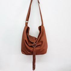 Marvelous Make a Hobo Bag Ideas. All Time Favorite Make a Hobo Bag Ideas. Hobo Handbags, Leather Handbags, Hobo Bags, Leather Tassel, Soft Leather, Brown Leather, Hobo Crossbody Bag, Leather Bags Handmade, Cheap Bags