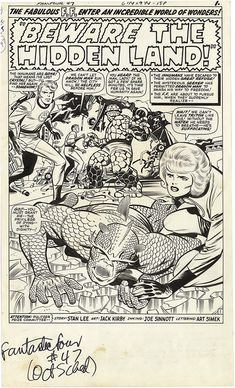 Fantastic Four, Issue 47, Page 1 - pencils by Jack Kirby, inks by Joe Sinnott