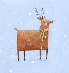 Illustrations for next years christmas cards. All this delicious snow is helping to keep me in the festive mood. Christmas Mood, Christmas Is Coming, Christmas Design, Handmade Christmas, Christmas Holidays, Christmas Decorations, Deer Illustration, Winter Illustration, Christmas Illustration
